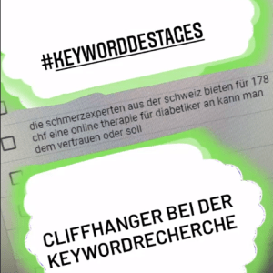 keywordrecherche humor cliffhanger blog